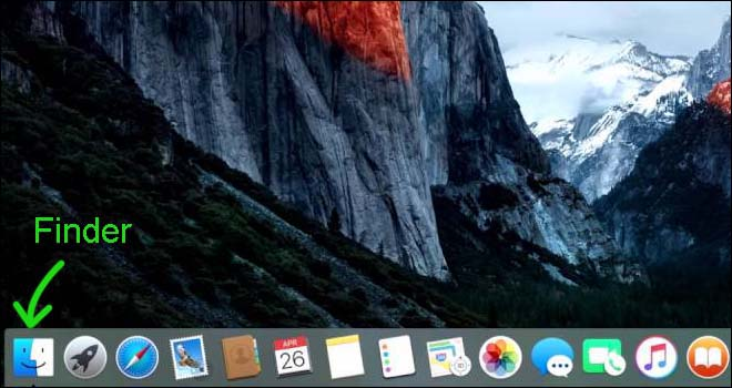 finder on dock