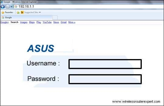 my asus login page
