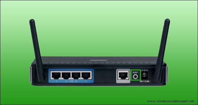 reset key in dlink router