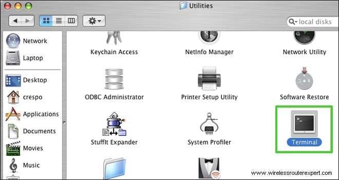 terminal on utilities