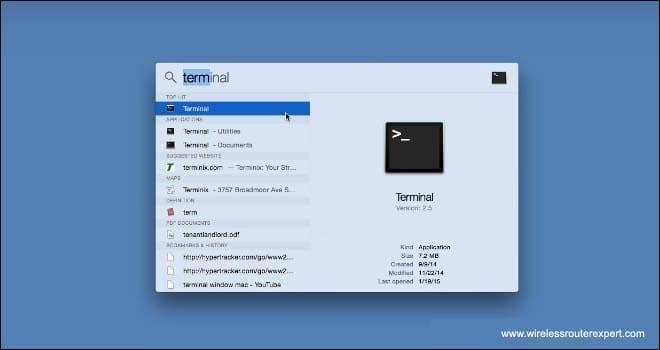 type terminal