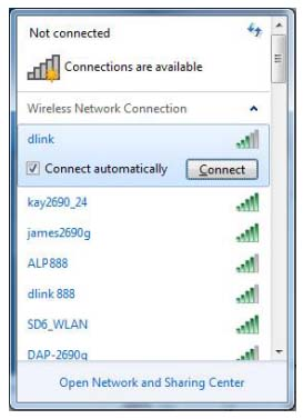 dlink router in wifi list
