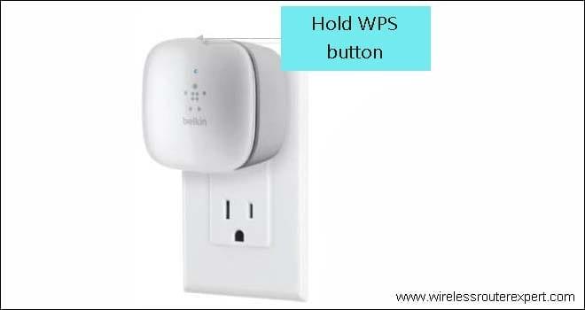 hold belkin wps button