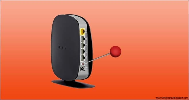 Reset belkin router with pin