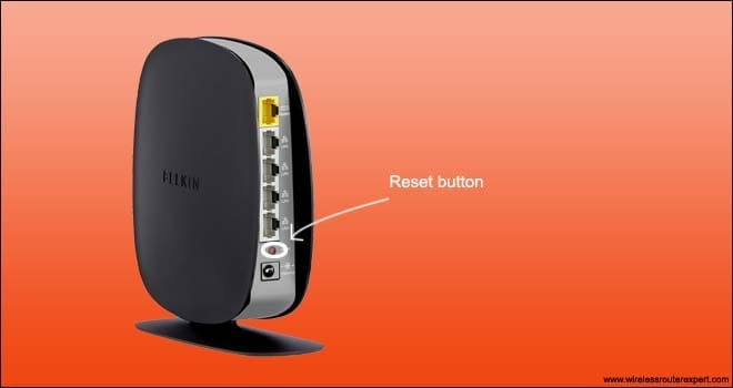 belkin router reset button