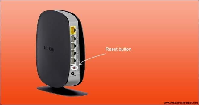belkin router reset button