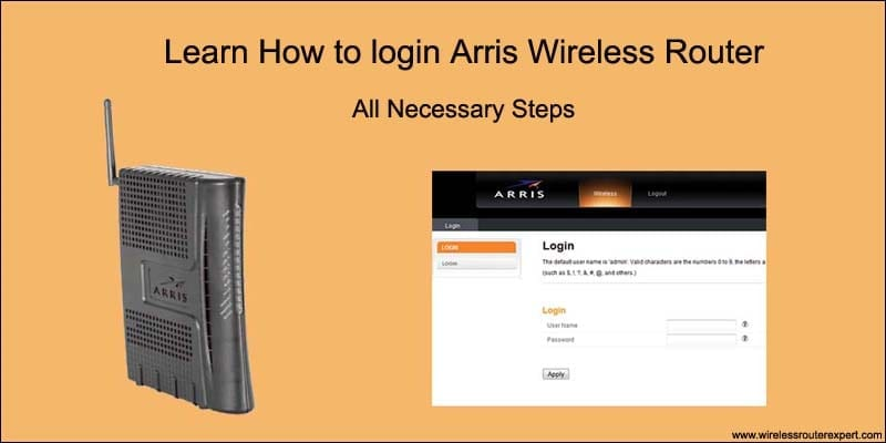 How to Login Arris Router Using Default IP, Username & Password