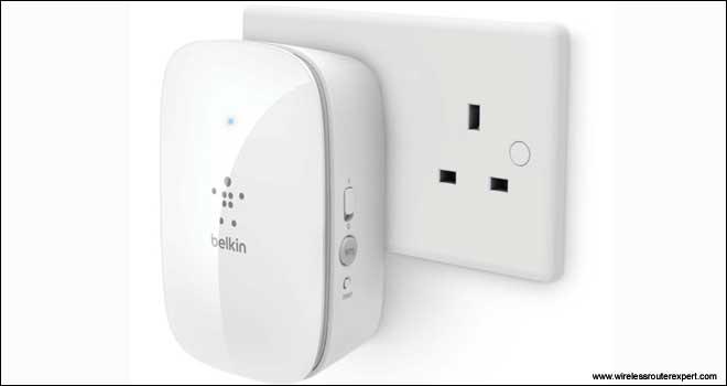 belkin extender power on