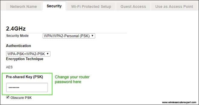 change router password