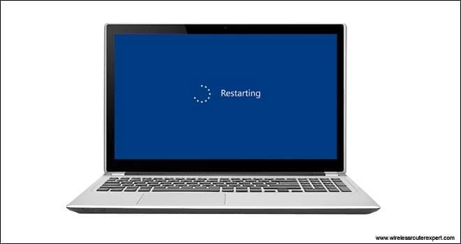 restart your laptop