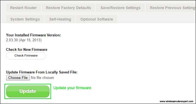update Belkin Extender Firmware